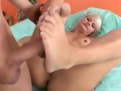 Sexy footjob with horny Tosh Locks porn tube video