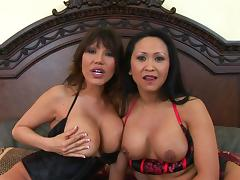 Kitty Langdon and her slutty friend enjoy the same fuck buddy porn tube video