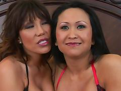 Hoe Kitty Langdon sharing a huge schlong with her slutty friend porn tube video
