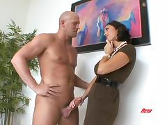 Jerking, Big Tits, Boobs, Couple, Fucking, Hardcore
