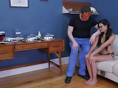 Eden Sin fucked down her throat by a nasty master with a mask tube porn video