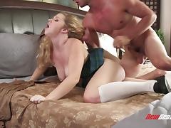 Georgia James is a nasty blonde in need of a stiff dick