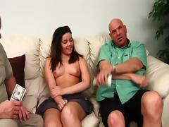 Threesome, Amateur, Fucking, Hardcore, MMF, Money