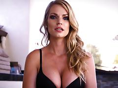 Hot blowjob session with insatiable blonde Rachael Cavali