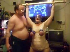 Horny Amateur record with BBW, Bondage scenes