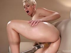 machine fucks this blonde milf hard porn tube video
