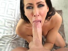 The eyes of Reagan Foxx can make a cock jizz just by looking tube porn video
