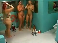 Observation Of Wives And Girlfriends Big Brother Finland Shower tube porn video