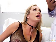 Brett Rossi is a stunning blonde who loves fucking a hot doctor tube porn video