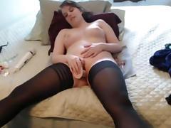 Webcam, Amateur, Masturbation, Solo, Stockings, Toys
