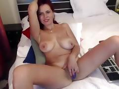 Melons, Boobs, Masturbation, Redhead, Solo, Webcam