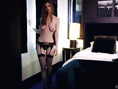 Slim princess Stella Cox wants to ride a hunk's cock tube porn video