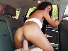 POV back seat hardcore with skinny Tiffany Nunez