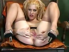 Hottest Homemade record with Stockings, Masturbation scenes porn tube video