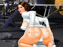 Star Wars cartoon parody sex tube porn video