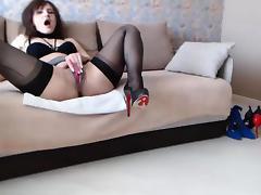 Webcam, Amateur, Brunette, Fingering, Masturbation, Solo