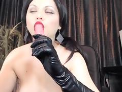 Mistress Ana Smoke.Gloves Handjob,Spity Bj porn tube video