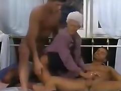 Grandma, Amateur, Granny, Group, Homemade, Mature