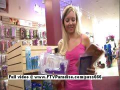 Tamara stunning long hair blonde babe shopping toys tube porn video
