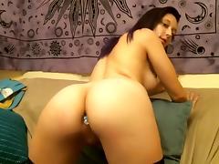 Webcam, Amateur, Bed, Big Tits, Masturbation, Solo