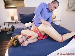 Shoe store fetish Peter embarked by spanking her culo with s