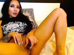 Webcam, Brunette, Masturbation, Solo, Strip, Toys