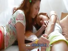 Insane russian lesbo cunt eating tube porn video
