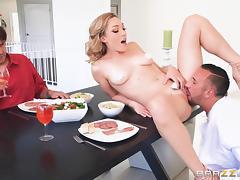 sexy blonde cucks her man