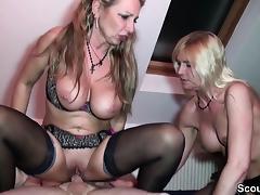 Mother, Blonde, Blowjob, German, HD, Mature