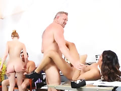 Choking, Blonde, Blowjob, Brunette, Choking, European