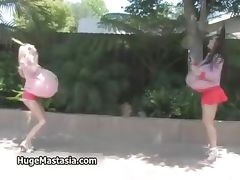 Hot blonde and brunette babes walking part2 tube porn video