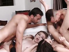 Husband, Banging, Blowjob, Brunette, Doggystyle, European