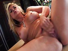 rams her fingers deep in her moist slot