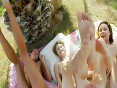 Incredible lesbian threesome from poland