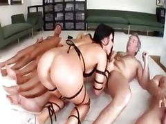 Aletta Ocean in bukkake porn tube video