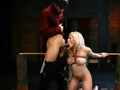 Closet slave and ball punishment Big-breasted blonde