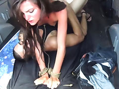 Extreme anal triple penetration He surprises her with cord a