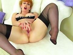 English milf Beau Diamonds feels frisky in sexy lingerie tube porn video