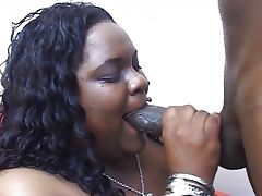 Office BBW ebony babe humping him well