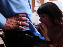 Blowjob, Angry, Blowjob, Brunette, Cop, Doggystyle