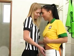 Cock white teen pussy Brazilian player pulverizing the refer