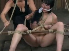 Slut Ball gagged in Mud