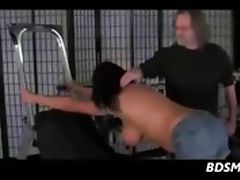 Bit Tit Brunette Whipped And Dominated
