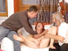 Daddy, Fingering, Fucking, HD, Mature, Redhead
