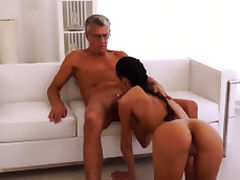 Daddy Finally she's got her manager dick