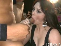 Three brunette slots with one guy tube porn video