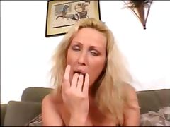 Two guys fucking delicious blonde