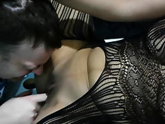 Amazing big booty stepmom gets eaten hard