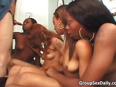 Incredible group sex party with black