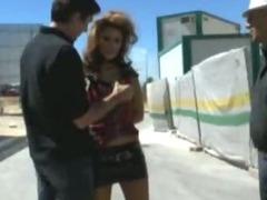 Horny girl fucked in public